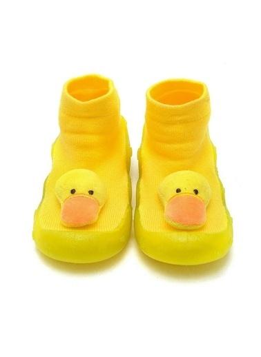 First Step 3 Boyutlu Altı Kaymaz Silikon Çocuk Panduf Ayakkabı c-26-1 Sarı